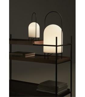 Industrialna lampa stołowa Dean Halo  - czarna  Nordlux