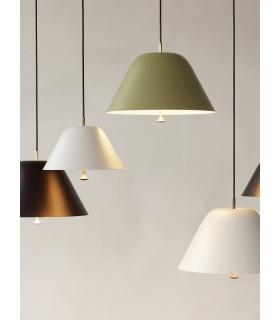 Lampa wisząca Cohen Frandsen - Ø25cm szaraobrązowa
