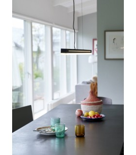 Szklana lampa wisząca - Comb Ø25