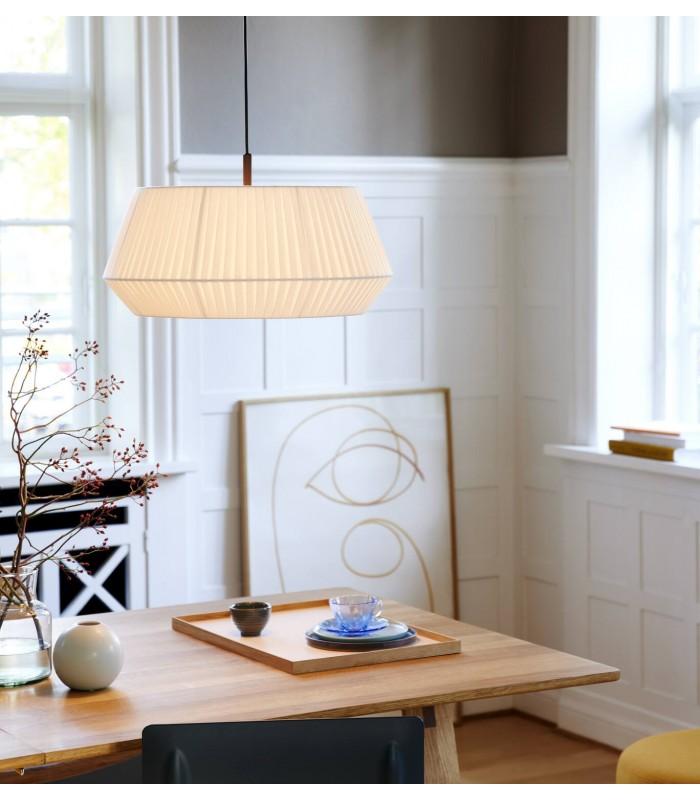 Lampa podłogowa Tripod Wood - drewniana z czarnym bażurem