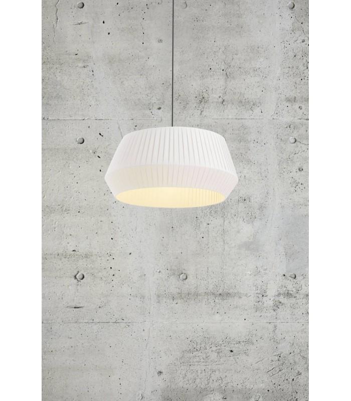 Lampa podłogowa Tripod Wood - drewniana z białym bażurem