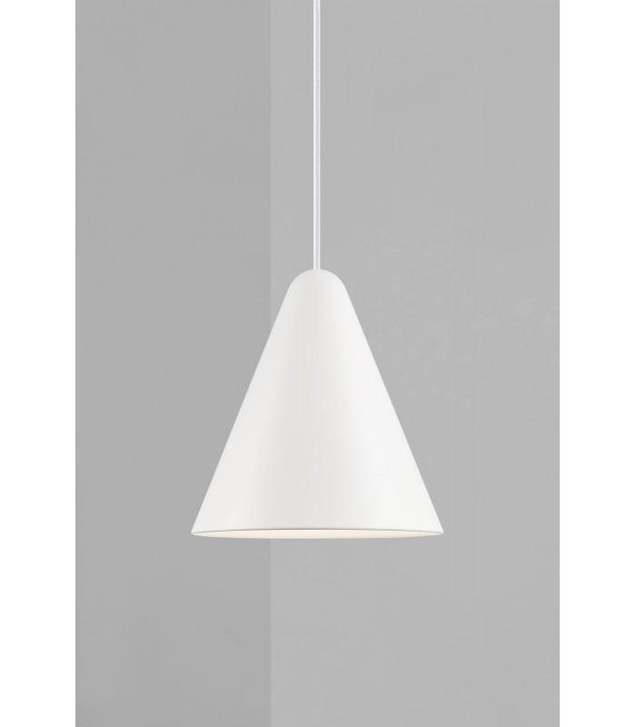 Biała lampa podłogowa Tripod Zuiver - miedziana podstawa