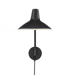 Czarna ażurowa lampa wisząca Aver 50