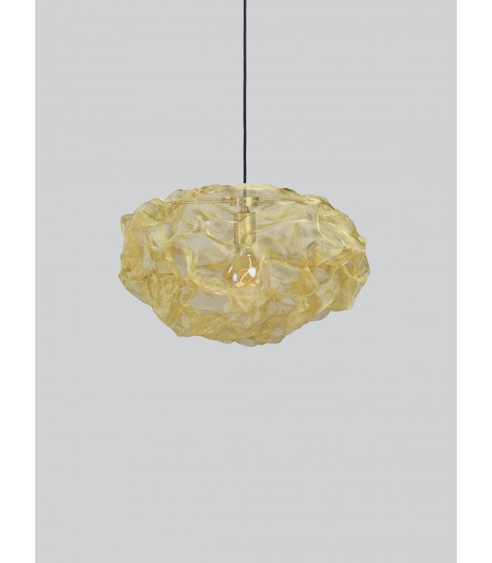 Szklana lampa wisząca Bloomingville – brązowa