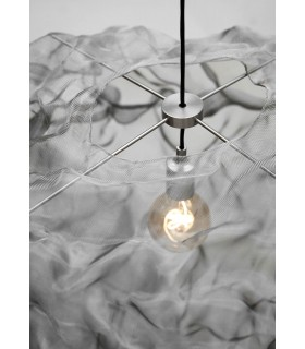 Biała lampa wisząca Bloomingville