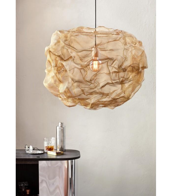 Szklana lampa wisząca w kształcie kuli – szara