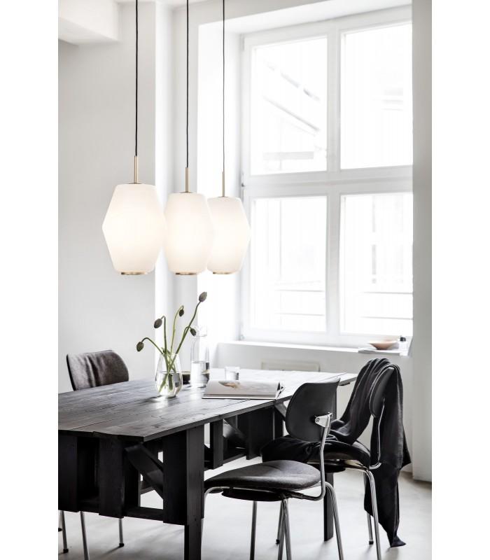 Lampa industrialna biała projekt: A. Wedel-Madsen śr. 28cm