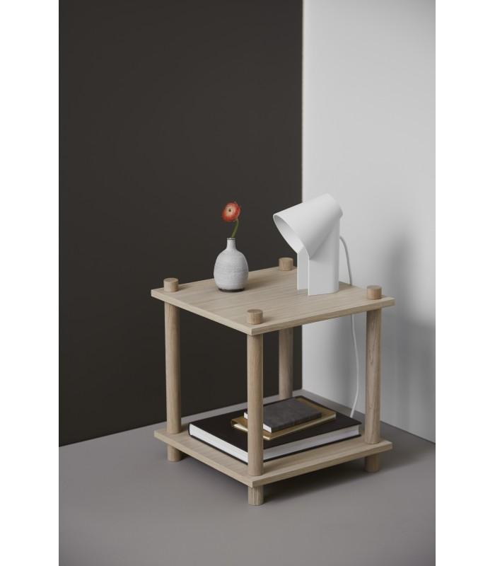 Biała lampa stołowa  Frandsen Venice