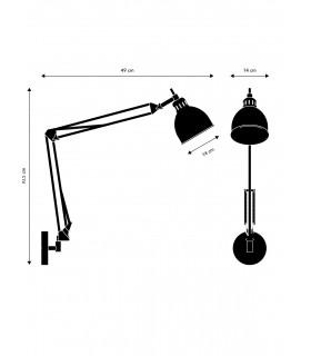 Lampa ścienna Hunt 26- czarna