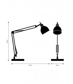 Lampa ścienna Hunt 26 - aluminium