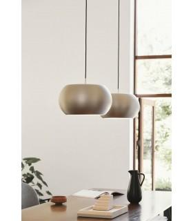 Industrialna lampa wisząca - biała