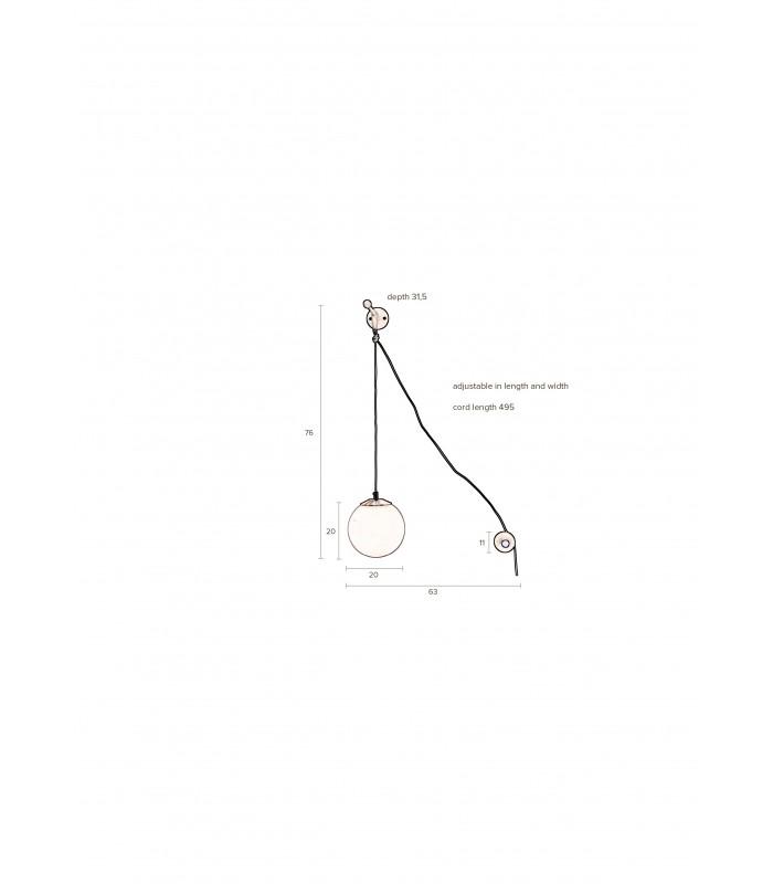 Skandynawska lampa stołowa Fabian mini - marmur