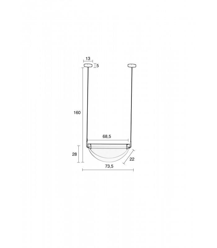 Szklana lampa wisząca Alrun Norldux - przydymione szkło