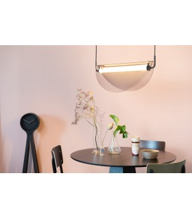 Szklana lampa wisząca Alrun - amber