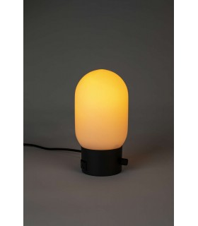 Skandynawska, czarna  lampa podłogowa Frandsen JOB