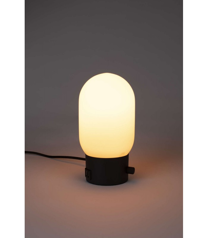 Czarna lampa stołowa Arigato
