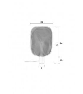 Lampa wisząca DEE 2.0 z mlecznego szkła - czarna