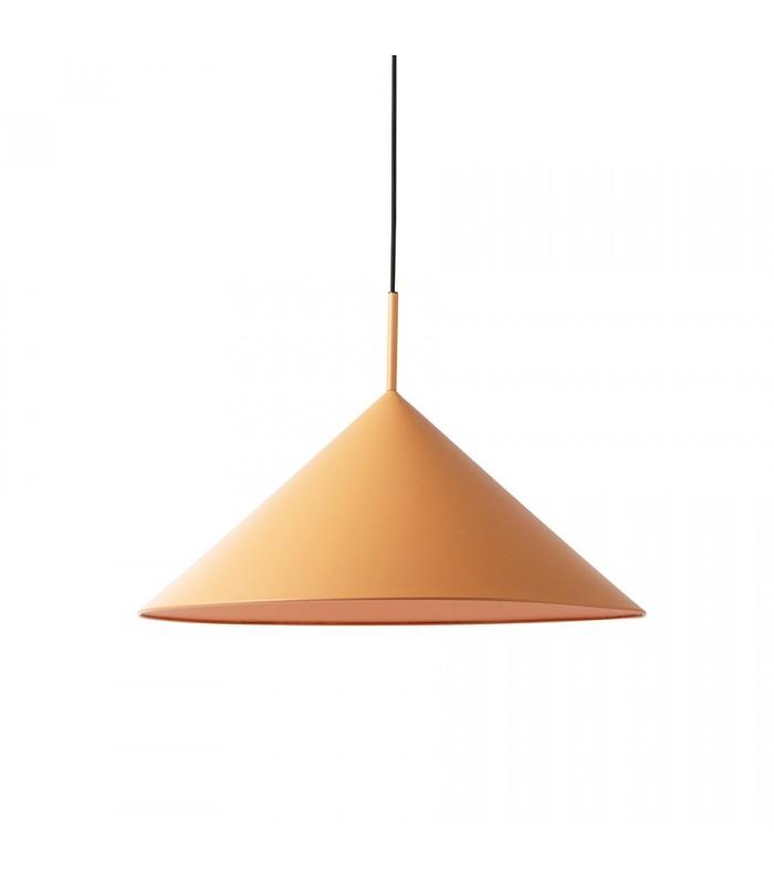 Szklana lampa wisząca w stylu skandynawskim - różowa - Frandsen Grace
